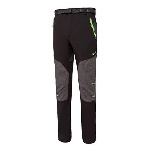 IZAS Aletch Pantalon de Montagne Homme, Noir/Gris Foncé/Lime, FR : 2XL (Taille Fabricant : XXL)