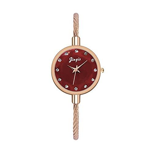 CXJC Reloj de Cuarzo Estrellado de la gradiente de Las señoras. Reloj de Pulsera de Mujer Fresca del Arco Iris de Color Dulce. Marcación de aleación Redonda de 22 mm (Color : C)