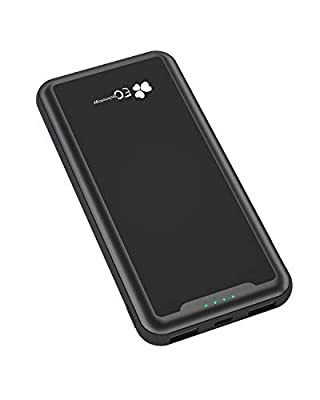 Powerbank, EC Technology 15000mAh Portable Charger with LED Digital Display, Dual Output with Auto IC Battery Pack Power Bank for Mobile Phones, Black