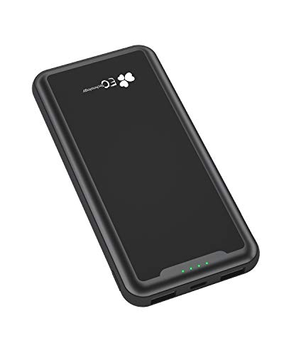 EC Technology Power Bank 15000amh Caricabatteria Portatile con Display Digitale LED e 2 Porte USB Batteria Esterna Slim IC Integrata per Huawei, Samsung, Xiaomi e Smartphone