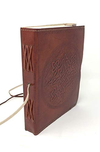 Celtic Knot Leather-bound Journal with Handmade Paper