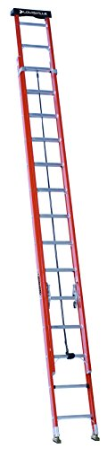 Louisville Ladder 28Foot Fiberglass Extension Ladder with Pro Top 300Pound Capacity L302228PT