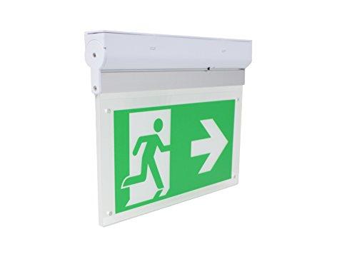 Notleuchte Notausgang Fluchtwegleuchte Notlicht LED Notleuchte mit Akku für Wand und Deckenmontage geeignet | Beleuchtetes LED Notausgangsschild Rettungszeichenleuchte Gemäß DIN EN 60598-1 & VDE 0108