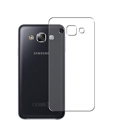 Vaxson 2 Stück Rückseite Schutzfolie, kompatibel mit Samsung Galaxy E5/E500F/E500H/E500HQ/E500M/E500F/E500H/E500M, Backcover Skin TPU Folie [nicht Panzerglas/nicht Front Bildschirmschutzfolie]