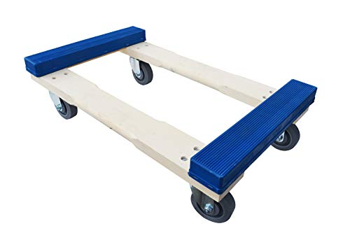 Forearm Forklift RCTE-C40 Pro Grade Heavy Duty Moving Dolly with Rubber Caps | 900 Pound Capacity | 18' x 30', 4' Casters