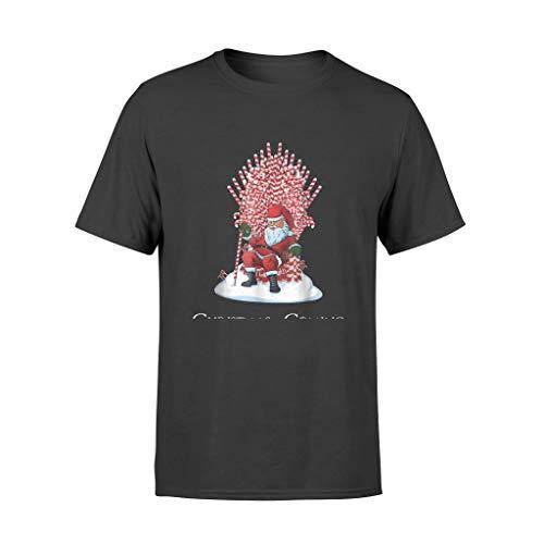 AMIROSSI Camiseta de Navidad con diseño de Papá Noel y trono de bastón de caramelo