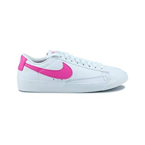 Nike Damen W Blazer Low Le Basketballschuhe, Mehrfarbig (White/Laser Fuchsia/White 000), 39 EU
