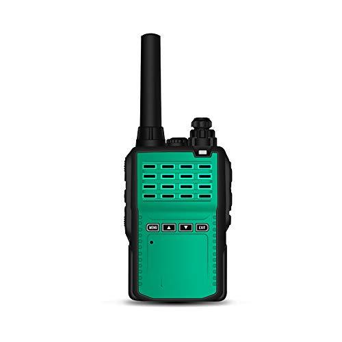 HDCDKKOU 5W UHF de Largo Alcance al Aire Libre jamón transmisor-Receptor 16 Canales de walkie talkies de Larga Distancia, LED Ligera Fuerte / 1800mAh de Gran Capacidad (2 Unidades) (Color : Green)