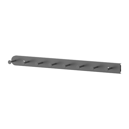 IKEA KOMPLEMENT–extraíble de usos múltiples percha, gris oscuro–58cm