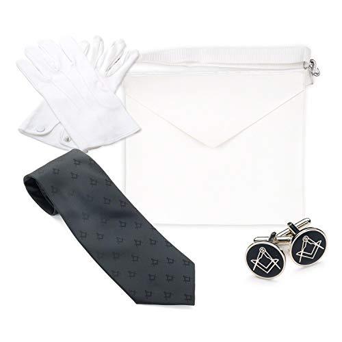Masonic Freimaurer-Regalia Craft Schürze für Lehrlinge, 100% Baumwolle Baumwolle Polyester, Lammleder, M