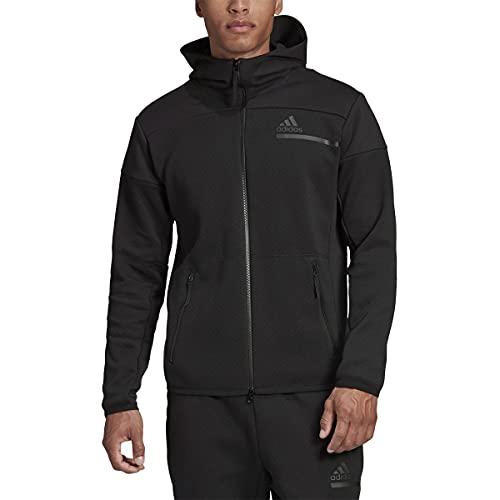 adidas Men's Z.N.E. Full-Zip, Black, XL
