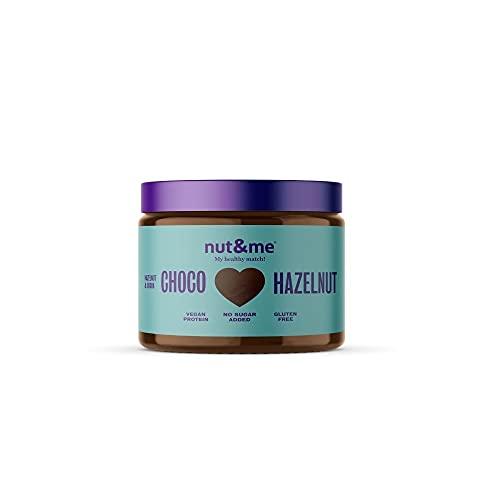 Crema de avellanas y cacao 300 gramos nut&me   Dieta Keto   100 % Natural   3 ingredientes: Cacao, avellana y dátil   Sin Azúcar   Repostería   Sin Aditivos   Vegano