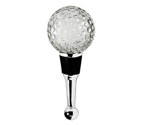 EDZARD Flaschenverschluss Golf für Champagner, Wein und Sekt, Höhe 10 cm, Golf Geschenk, Muranoglas-Art, Handarbeit (kleine Unebenheiten möglich)