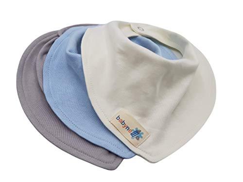Baby Lätzchen Halstuch - saugstark, doppellagig, weich - 3'er Pack Mädchen oder Junge - Baby Spucktuch – Sabberlätzchen - Futterlätzchen aus 100% zertifizierter Bio-Baumwolle in natürlichen Farben