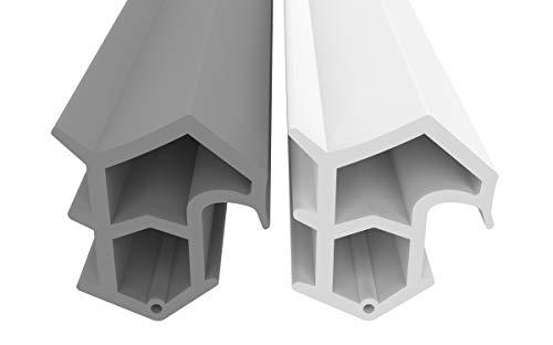 Stahlzargendichtung Grau 5m - gegen Zugluft Lärm & Staub spart Heizkosten Dichtung Dichtungshöhe 16mm Dichtungsbreite 14mm Falz Türdichtung (Grau 5m)