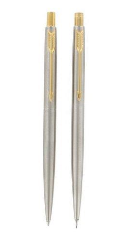 Parker Classic Stainless Steel GT Ballpen and Mechanical Pencil Set