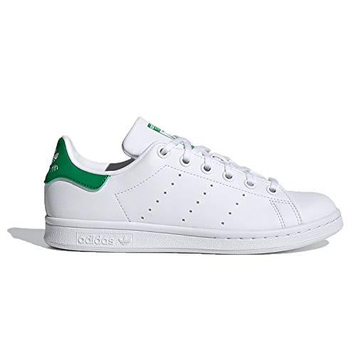 adidas Stan Smith J, Zapatillas Deportivas, FTWR White FTWR White Green, 39 1/3 EU