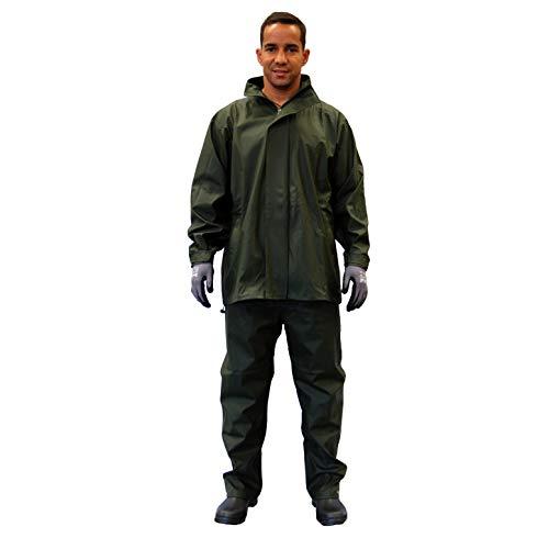 Gahibre 431 Conjunto lluvia chaqueta/pantalón poliuretano extra resistente
