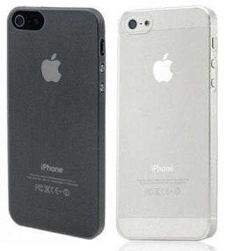 itronik 2X Ultra dünne Schutzhülle kompatibel mit Apple iPhone 5 5S 5SE Hülle 0,2mm in schwarz & weiß transparent