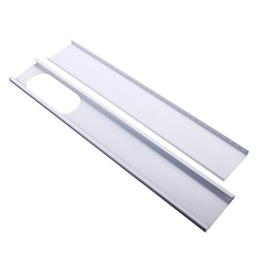 XCQ 2 stücke 67,5 cm-120 cm Einstellbare Fenster Gleitplatte Klimaanlage Windschild für Klimaanlagen langlebig 0320