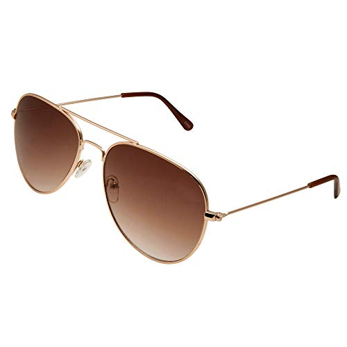 grinderPUNCH Unisex Aviator Sunglasses | Fashionable & Lightweight Frame Suits All Face Shapes | 100% UV Protection