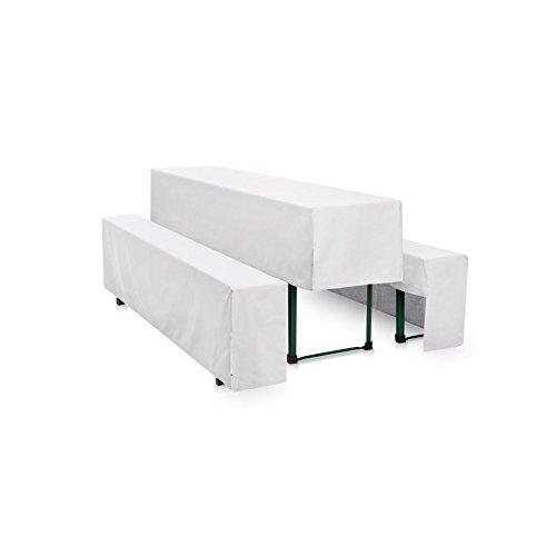 Hans-Textil-Shop Hussen-Set 220x50 cm Weiß Polyester Halblang