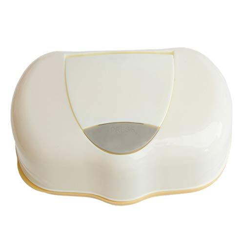 80 Hojas Mojadas para Caja De Pañuelos De Plástico Caja De Almacenamiento De Toallitas Húmedas Caja Contenedor Recargable