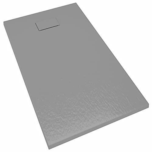Tidyard Plato de Ducha SMC Gris 120x70 cm - Mamparas de Ducha