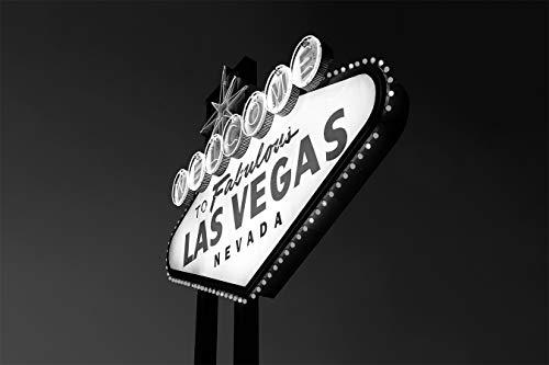 Fototapete selbstklebend Las Vegas - schwarz weiß 90x100 cm - Bildtapete Fotoposter Poster - Mojave Wüste