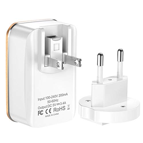 ByedogFast Quick Charge QC 3 Ports 3.0 USB Wall Charger 3.5A Power Adapter 2in1 US+EU Plug