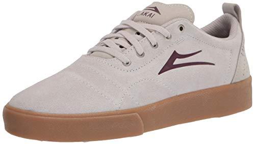 Lakai Footwear Mens Bristol Skate Shoe, White/Gum Suede