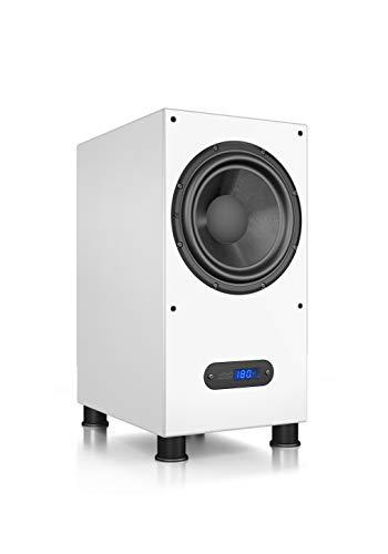 Nubert nuLine AW-600 Subwoofer | Lautsprecher für Bass & Effekte | Surround & Action auf hohem Niveau | Aktivsubwoofer-Technik Made in Germany | LFE-Box mit 240 Watt | Kompaktsubwoofer Weiß