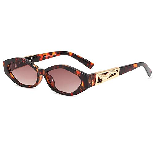 ZZOW Ins Popular Fashion Small Cat Eye Gafas De Sol Mujeres Vintage Metal Cheetah Jelly Pink Eyewear Hombres Leopard Sun Glasses Shades
