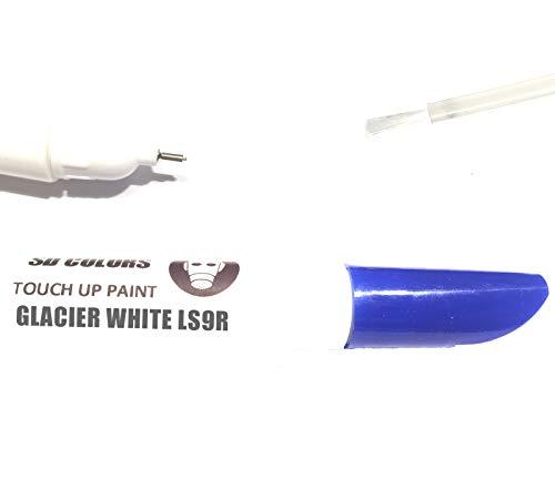 SD COLORS GLACIER BIANCO LS9R LS9R 2Y S9R - Kit di riparazione penna per ritocchi da 12 ml, pennello per graffi (basta verniciare)
