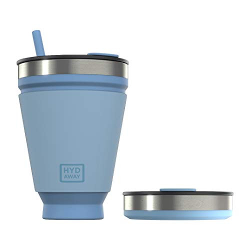 HYDAWAY Collapsible Drink Tumbler | Portable, Insulated, Hot & Cold Drink Cup for Coffee, Tea,...