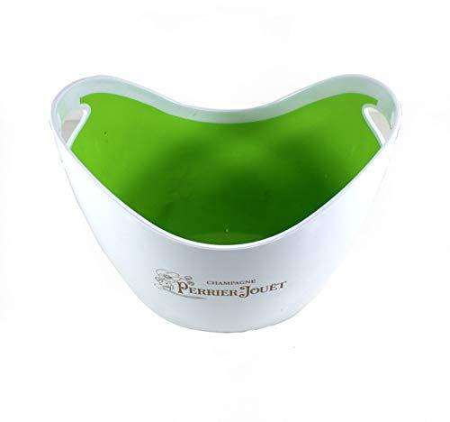 Perrier Jouët Champagner Flaschen-Kühler weiß/grün groß ~mn 971 1222