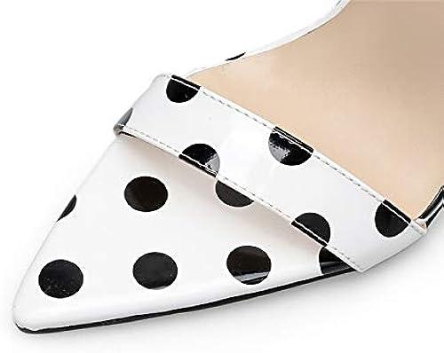 XTQCBQL Tacones Altos de Las mujeres 11cm Vestido de Fiesta Sandalias Correa de mujer zapatos de tacón de Aguja de Cuero