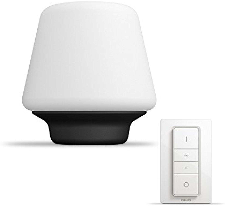 Philips Hue LED Tischleuchte Wellness inkl. Dimmschalter, dimmbar, alle Weischattierungen, steuerbar via App, wei, kompatibel mit Amazon Alexa (Echo, Echo Dot)