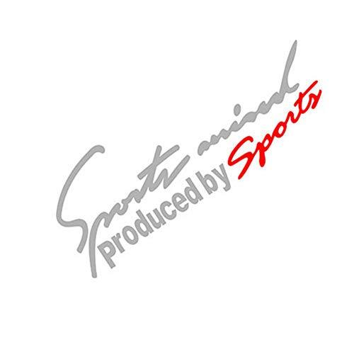 Dandeliondeme Auto Styling Sport Geist Aufkleber Emblem Abzeichen Auto Scheinwerfer Motorhaube Aufkleber Anzug für Ford Mercedes-Benz BMW Volkswagen Passat Audi Weiß + Rot 30x10.5cm