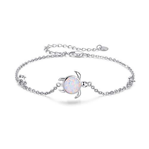 Armband Opal Schildkröte 925 Sterling Silber Schildkröte Schmuck für Damen Schildkröte Geschenke für Mädchen