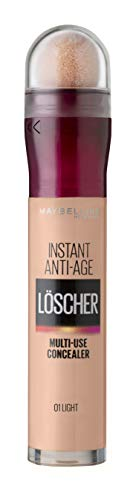 Maybelline New York Abdeckstift, Instant Anti-Age Effekt Concealer, Löscher mit Mikro-Lösch-Applikator, Nr. 01 Light, 6,8 ml