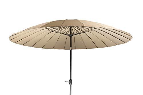 MaxxGarden - Sombrilla de jardín Shanghai, diámetro 270 cm, redonda, color antracita