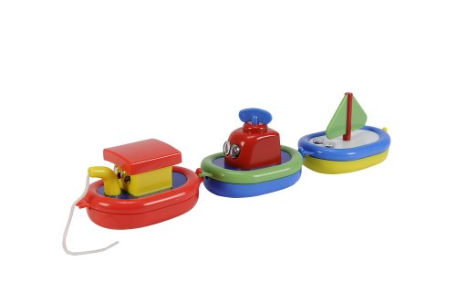Simba 104013920 – ABC schwimmbootkette, 3 différents Bateaux, 10 cm