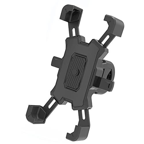 Soporte de teléfono móvil para bicicleta de bloqueo con llave de cuatro mandíbulas en forma de U para teléfono móvil con bloqueo automático