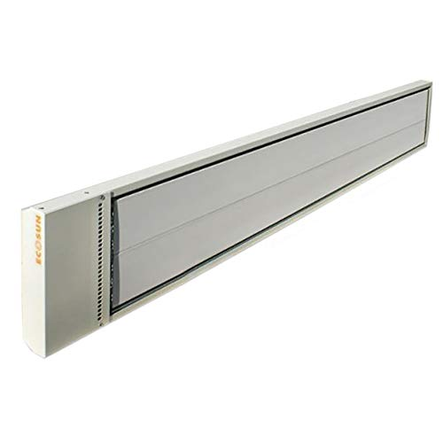 Fenix ECOSUN S Hochtemperatur-Strahlungsplatte 1800 W, Infrarot-Hochleistungspaneel, Infrarotheizung, weiß, Hallenheizung