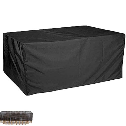 HMCUIQI Cubierta para muebles de patio, impermeable, cuadrada, 68,5 x 68,5 x 119,4 cm, para mesa de exterior, rectangular, Oxford, duradero, para muebles de jardín y exteriores, grande