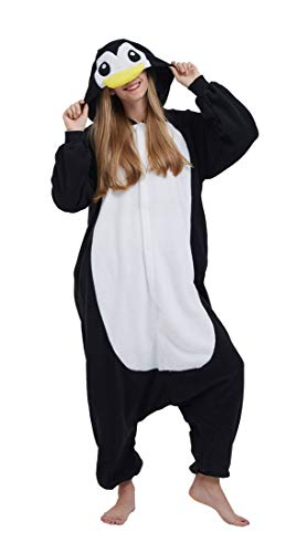 SAMGU Adult Pyjama Cosplay Tier Onesie Body Nachtwäsche Kleid Overall Animal Sleepwear Erwachsene Pinguin S