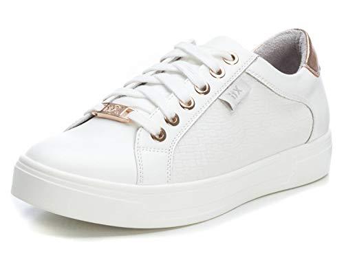 XTI 49804, Scarpe da Ginnastica Basse Donna, Bianco (Bianco Bianco), 40 EU
