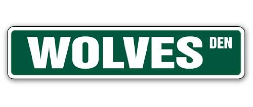 """WOLVES Street Sign wolf collectible decor howl signs 