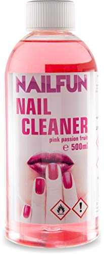 Nailcleaner pink passion fruit 500ml • Spezial Nagel-Reiniger für die Nagelmodellage in Studioqualität zum reinigen und entfetten - Schwitzschicht-Entferner Nail Cleaner Isopropanol [1 x 500 ml]